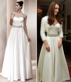 Wedding Dress inspired by Kate Middleton's reception dinner gown! So classic and stunning, just like Kate herself!