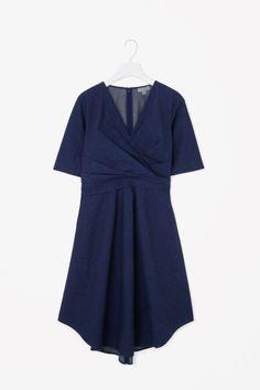 Cross-over drape dress