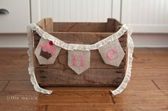 ONE+Cupcake+Burlap+High+Chair+Banner+for+Birthday+by+LittleMaisie,+$27.00
