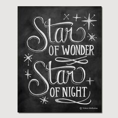 Star of Wonder  8 x 10 Print  Chalkboard Art  par LilyandVal, $24.00