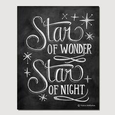Star of Wonder  8 x 10 Print  Chalkboard Art  par LilyandVal, $24.00