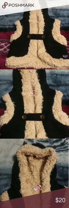 Kids fur vest Fur inside. Soft comfy. In good condition. Used very few times. Knitted. Roxy Other