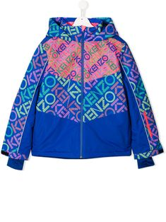 Shop Kenzo Kids' Logo Panel Bomber Jacket In Blue from stores. Blue logo panel bomber jacket from Kenzo Kids featuring a hood, a front zip fastening, long sleeves, side pockets and ribbed cuffs. World Of Fashion, Kids Fashion, Fashion Design, Kenzo Kids, Kids Logo, Luxury Branding, Kids Outfits, Bomber Jacket, Women Wear