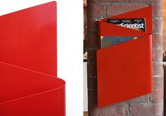 trendy wall mounted magazine rack