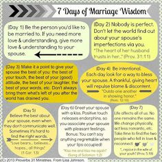 7 Days of Marriage Wisdom
