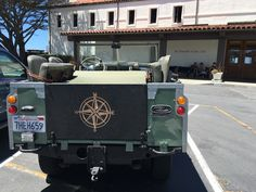 1962 Series 2A Land Rover @ St. Francis Yacht Club Custom carved tailgate...yeah I like sailing and making things by hand.