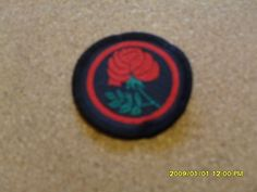 Girl Guide Badges - Patrol Emblem - Red Rose