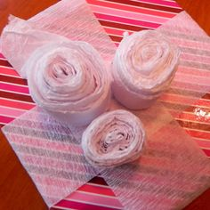 Seed Tapes - A very clever way of planting seeds.  When the paper is rolled it becomes a paper rose which can be given to a special person who likes to garden as a gift.