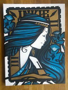INKIE at the Ministry of Walls collection #streetart #urbanart #stencil #mowcollection #ministryofwalls #duesseldorf #cologne #berlin #miami #happy #art #artinvest #kunst #strassenkunst #invest https://www.ministryofwalls.com/produkt-kategorie/inkie/