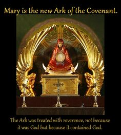 Mary, Ark of the Covenant http://www.piercedhands.com/mary-ark-of-the-covenant/
