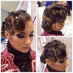 Latin Standard convertible hair style