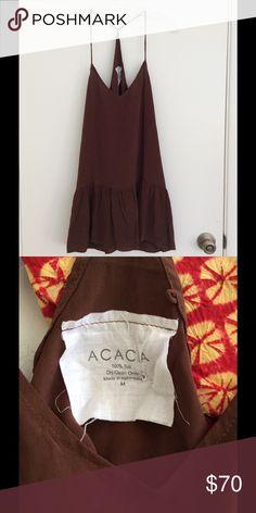 Acacia Swimwear Silk Dress Size medium.  100 silk.  NWOT. acacia swimwear Dresses
