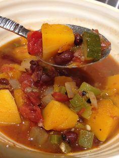 Vegan Butternut Squash & Black Bean Chili  (Gluten-Free, Dairy-Free, Vegan)