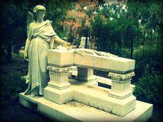 Bonaventure Cemetery. Savannah, Ga.  This is one of my favorite graves at Bonaventure, her 3 children lay beside her.