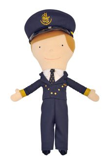 Emirates Pilot Rag Doll $30