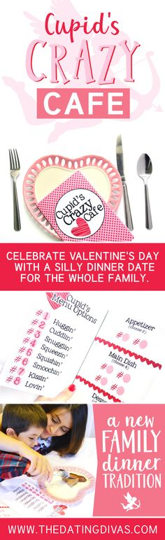 A new family Valentine's Dinner tradition with this silly V-Day countdown. #VDayDinner #FamilyDinner