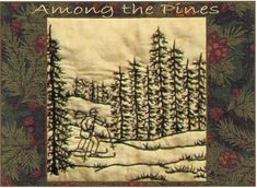 Among the Pines - Skier - Redwork Hand Embroidery Pattern by Beth Ritter - Instant Digital Download