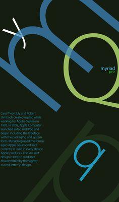 Type Specimen Myriad Pro