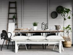 Full sized shot of the beautiful new ikea range photographed by Still Inspiration Ikea Outdoor, Outdoor Areas, Outdoor Dining, Ikea Inspiration, Sinnerlig Ikea, Ikea Exterior, Home And Living, Living Spaces, Table Settings