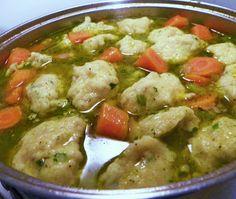 Michael Symon's Turkey Dumpling Soup Would try with chicken.