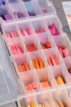 Soft pastels - Art Supply Storage ideas. ❁ Bella Montreal ❁