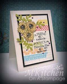 On A Stampage...: using Inspired by Stamping Washi Tape, Daisies and Words of Inspiration stamp sets.