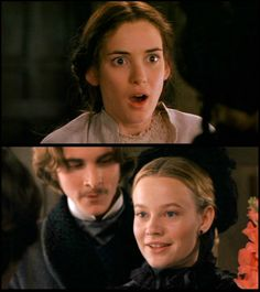 Winona Ryder (Jo March), CHRISTIAN BALE (LAURIE) & Samantha Mathis (Amy March) - Little Women directed by Gillian Armstrong (1994) #louisamayalcott