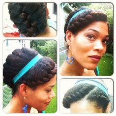 flat twist crown with french braid/twist in the back.