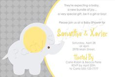Invitations in blue grey and white