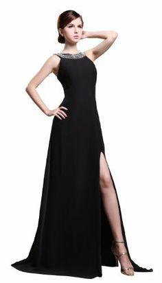 Amazon P32275 Black Evening Dresses