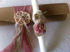 easter candle Easter Candle, Easter 2014, Greek Easter, Easter Crochet, Easter Crafts, Happy Easter, Christening, Macrame, Decoupage
