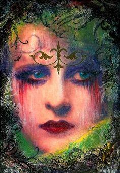 Vintage Gypsy Art | GYPSY~ALTERED~ATC~VINTAGE~COLLAGE~GOTH~DARK ACEO~ZNE - eBay (item ...