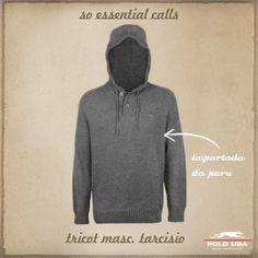 Tricot Polo USA Polo, Athletic, Hoodies, Usa, Sweaters, Jackets, Fashion, Moda Masculina, Tricot