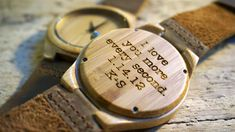 Excited to share the latest addition to my #etsy shop: Bamboo wood Watch / Personalized Watch - engraved with personal text - Gift for Him/Her, Anniversary, Weddings gift, Groomsmen / bridesmaid http://etsy.me/2j2ttNe #watch #woodwatch #woodenwatch #engravedwatch