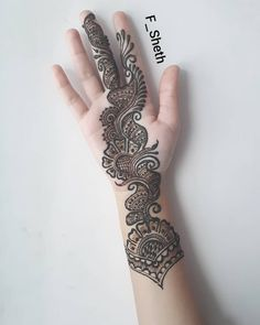 Latest Arabic Mehndi Design for Front Hand - Fashion Mehandi Design For Hand, Mehndi Designs Front Hand, Latest Arabic Mehndi Designs, Full Hand Mehndi Designs, Mehndi Designs Book, Mehndi Designs For Girls, Mehndi Designs For Beginners, Latest Mehndi Designs, Simple Mehndi Designs