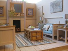 Oh we do like to be beside the seaside! Learn how to make this beach hut room in the 2015 edition of Dolls House Projects www.dollshouseprojects.com