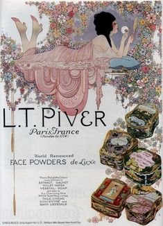 early L.T. Piver advertising  (Source: cocottes1900)