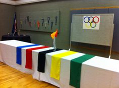 Olympic theme for blue and gold banquet