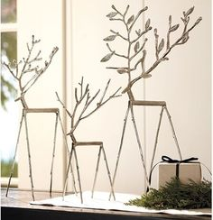 twig reindeer contemporary christmas decorations sacramento pottery barn unavailable at this time - Metal Reindeer Christmas Decorations