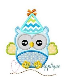 Birthday Owl Applique - 3 Sizes! | What's New | Machine Embroidery Designs | SWAKembroidery.com Dollar Applique
