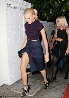 She's got the pins for it: As she strode into the popular Los Angeles restaurant, Pixie's ...
