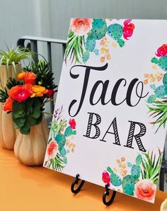 Taco Bar Print from a Llama Fiesta Birthday Party on Kara's Party Ideas 21st Party Themes, Fiesta Theme Party, Mexican Birthday Parties, 18th Birthday Party, Mexican Party, 14 Birthday Party Ideas, Classy Birthday Party, 18 Birthday Party Decorations, Birthday Crafts