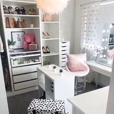 Dressing room goals from featuring our Diaz Hollywood Mirror. NowYou can find Beauty room and more on our website.Dressing room goals from f. Ikea Dressing Table, Dressing Room Decor, Dressing Table Mirror, Hollywood Mirror Ikea, Hollywood Mirror With Lights, Lights Around Mirror, Makeup Mirror With Lights, Bedroom Decor For Small Rooms, Ikea Bedroom