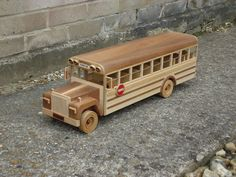 Canadian School Bus  Toy made by Jeff Parsonson.chandlersfordtoday