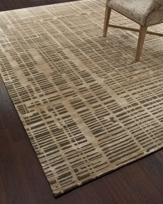 city blocks rug | wool, silk and viscose