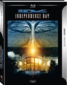 Independence Day (1996) Cinematography by Karl Walter Lindenlaub - Costume Design by Joseph A. Porro - Directed by Roland Emmerich - Music by David Arnold - Production Design by Oliver Scholl & Patrick Tatopoulos - Independence Day - Kinoversion + Special Edition - Limited Cinedition + DVD Blu-ray: Amazon.de - Anzahl Disks: 2 #digibook #cinedtion #bluray