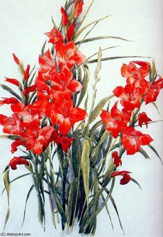 Charles Demuth Red Gladioli, Watercolor and graphite pencil on paper, Sheet: 20 x x cm). Whitney Museum of American Art, New York; Laurance S. Rockefeller in honor of Tom Armstrong Digital Image © Whitney Museum of American Art Needlepoint Patterns, Counted Cross Stitch Patterns, Charles Demuth, Gladiolus Flower, Gladiolus Tattoo, Pop Art Movement, Cross Stitch Pictures, Whitney Museum, Portraits
