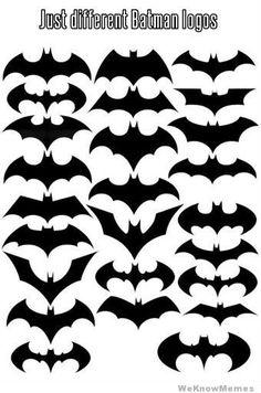 A bunch of Bat symbols