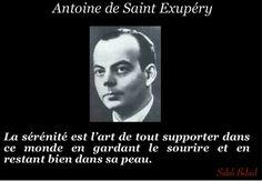 La Pensée Du Jour: La Serenite (Antoine De Saint Exupery ) Writer Quotes, Favorite Quotes, Quotations, Stress, Jokes, Choose Happiness, Idea Box, Gd, Fishing