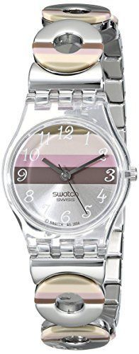Swatch Women's LK258G Quartz Stainless Steel Silver Pink Brown Dial Measures Seconds Watch Swatch http://www.amazon.com/dp/B000KNE0Y4/ref=cm_sw_r_pi_dp_fAeVub0QBYC6R - watches, cluse, daniel wellington, swatch, cheap, for men watch *ad